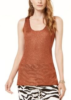 INC International Concepts Inc Metallic Sweater Tank Top, Created for Macy's
