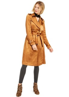 INC International Concepts Inc Metallic Trench Coat, Created for Macy's