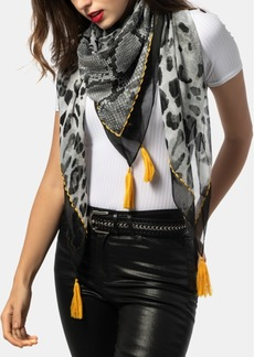 INC International Concepts Inc Mixed Animal Tassel Square Scarf, Created for Macy's