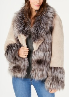 INC International Concepts I.n.c. Mixed-Materials Faux-Fur Jacket, Created for Macy's