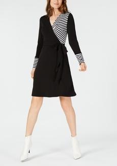 INC International Concepts I.n.c. Mixed-Media Wrap Dress, Created for Macy's
