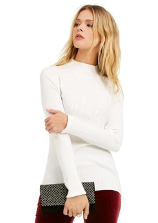 INC International Concepts Inc Mock-Neck Drip Sequin Sweater, Created For Macy's