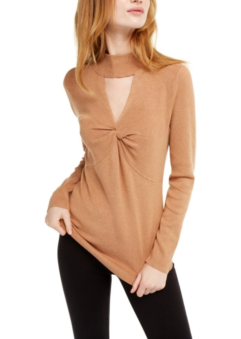 INC International Concepts Inc Mock-Neck Keyhole Twist Sweater, Created For Macy's