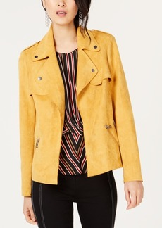 INC International Concepts I.n.c. Petite Faux Suede Moto Jacket, Created for Macy's