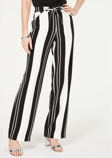 INC International Concepts Inc Nolita-Stripe Wide-Leg Pants, Created for Macy's