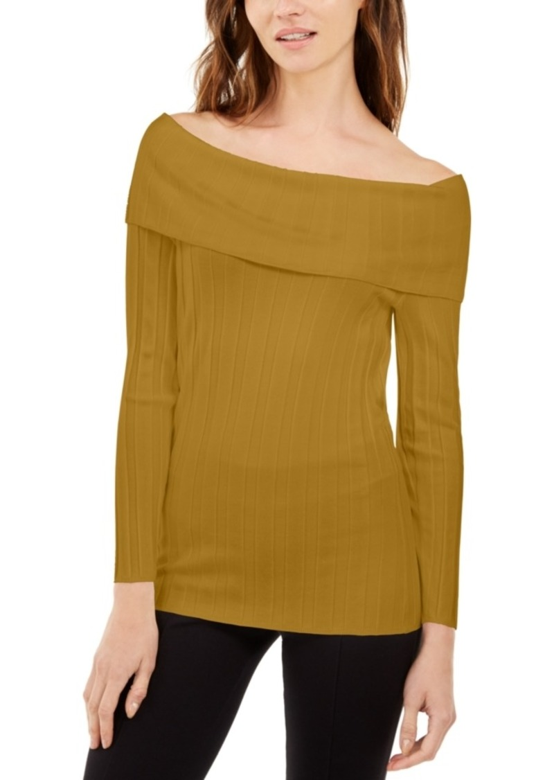 INC International Concepts Inc Off-The-Shoulder Ribbed Sweater, Created For Macy's