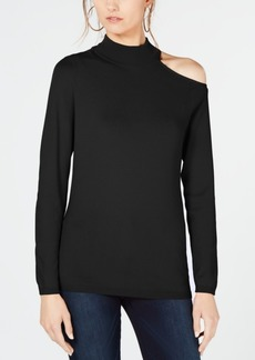 INC International Concepts I.n.c. One Shoulder Mock Turtleneck Sweater, Created for Macy's