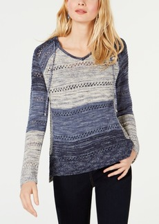 INC International Concepts Inc Open-Knit Hooded Sweater, Created for Macy's