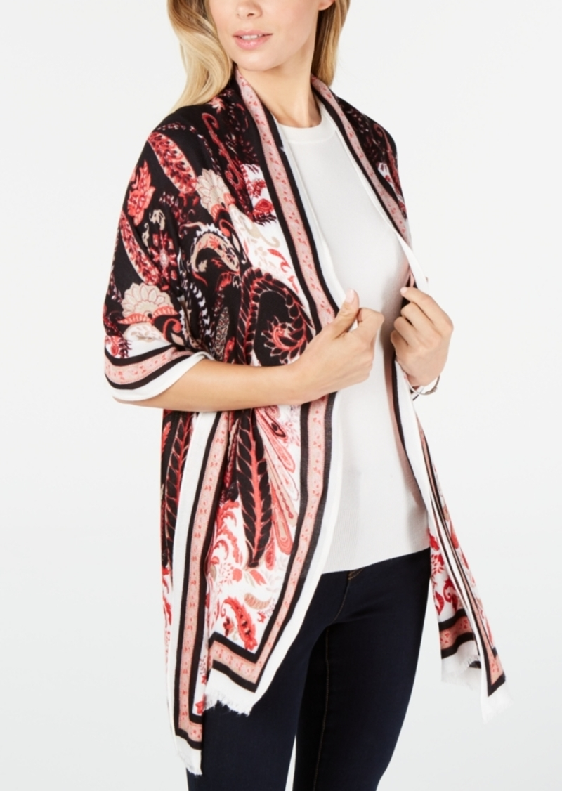 INC International Concepts Inc Paisley-Print Pashmina, Created for Macy's
