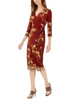 INC International Concepts Inc Paisley Wrap Dress, Created For Macy's