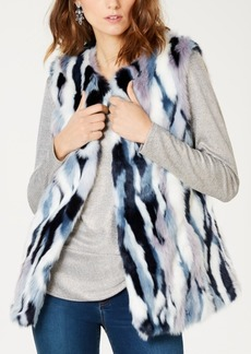 INC International Concepts I.n.c. Patchwork Faux-Fur Vest, Created for Macy's
