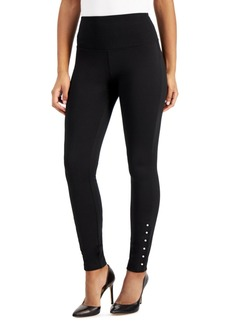 INC International Concepts Inc Pearl-Edge Ponte-Knit Leggings, Created for Macy's