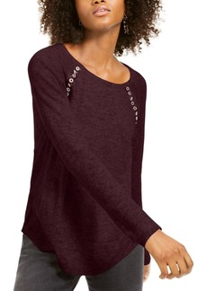 INC International Concepts Inc Peekaboo Grommet Sweater, Created For Macy's