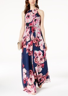 INC International Concepts I.n.c. Petite Belted Floral-Print Maxi Dress, Created for Macy's