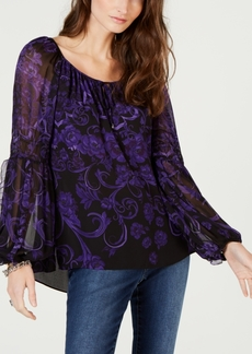 INC International Concepts I.n.c. Petite Blossoming Romance Blouse, Created for Macy's