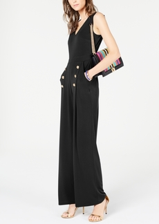 INC International Concepts Inc Button Wide-Leg Jumpsuit, Created or Macy's