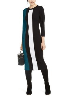 INC International Concepts Inc Petite Colorblocked Sweater Dress, Created for Macy's