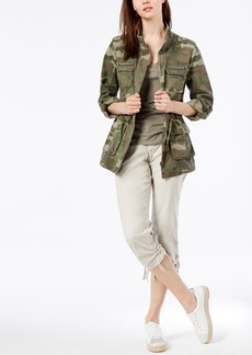 INC International Concepts I.n.c. Petite Cotton Camouflage-Print Utility Jacket, Created for Macy's
