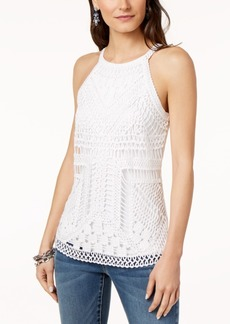 INC International Concepts I.n.c. Soutache Crochet Tank Top, Created for Macy's