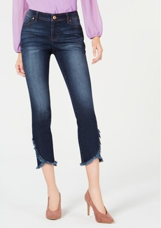INC International Concepts Inc Petite Cropped Tulip-Hem Skinny Jeans, Created for Macy's