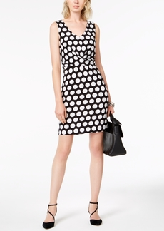 INC International Concepts I.n.c. Petite Dot-Print Sheath Dress, Created for Macy's