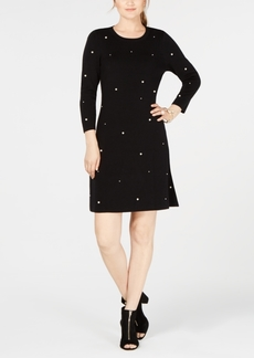 INC International Concepts I.n.c. Petite Faux-Pearl Studded Sweater Dress, Created for Macy's
