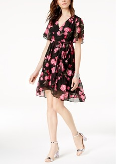 INC International Concepts I.n.c. Petite Floral-Print Faux-Wrap Dress, Created for Macy's