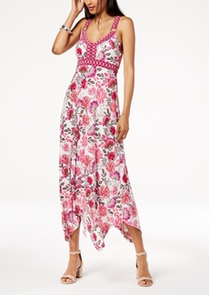 INC International Concepts I.n.c. Petite Floral-Print Handkerchief-Hem Dress, Created for Macy's