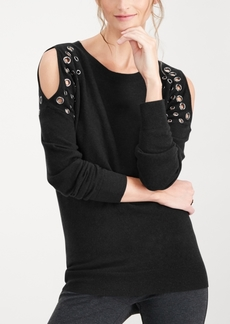 INC International Concepts I.n.c. Petite Grommet Cold-Shoulder Sweater, Created for Macy's