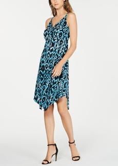 INC International Concepts Inc Ikat Crisscross Ring Dress, Created for Macy's