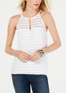INC International Concepts I.n.c. Petite Illusion-Neck Halter Top, Created for Macy's