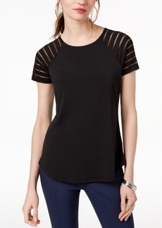 INC International Concepts I.n.c. Petite Illusion-Sleeve T-Shirt, Created for Macy's