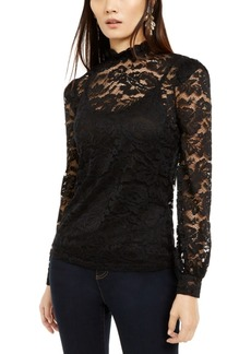 INC International Concepts Inc Petite Lace Mockneck Top, Created For Macy's