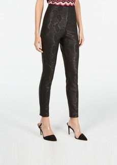 INC International Concepts Inc Snake-Print Skinny Pants, Created for Macy's