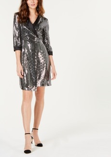 INC International Concepts I.n.c. Petite Mirror-Ball Mini-Blazer Dress, Created for Macy's