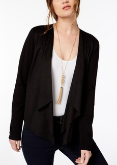 INC International Concepts Inc Open-Front Moleskin Cardigan, Created for Macy's