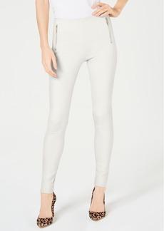 INC International Concepts I.n.c. Petite Moto Seam Ponte Skinny Pants, Created for Macy's
