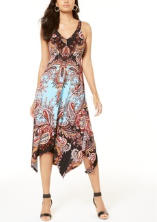 INC International Concepts Inc Petite Paisley Handkerchief-Hem Dress, Created for Macy's
