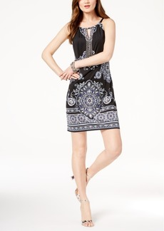 I.n.c. Petite Paisley-Print Keyhole Halter Dress, Created for Macy's