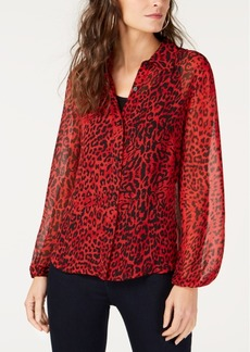 INC International Concepts I.n.c. Petite Printed Blouse, Created for Macy's