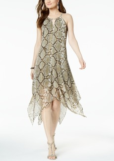 INC International Concepts I.n.c. Petite Printed Crinkle Keyhole Halter Dress, Created for Macy's