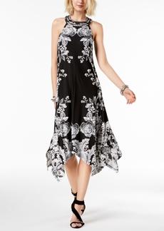 I.n.c. Petite Printed Handkerchief-Hem Halter Dress, Created for Macy's