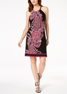 INC International Concepts I.n.c. Printed Hardware-Embellished Dress, Created for Macy's