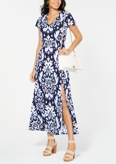 INC International Concepts I.n.c. Printed Smocked-Waist Maxi Dress, Created for Macy's