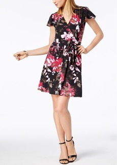 I.n.c. Petite Printed Surplice Fit & Flare Dress, Created for Macy's