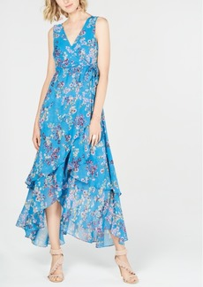 INC International Concepts I.n.c. Petite Printed Tiered Wrap-Front Dress, Created for Macy's