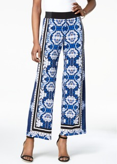 INC International Concepts I.n.c. Petite Printed Wide-Leg Soft Pants, Created for Macy's