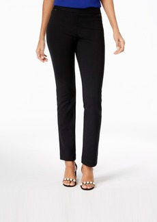 INC International Concepts I.n.c. Petite Pull-On Straight-Leg Pants, Created for Macy's