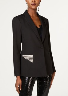 INC International Concepts I.n.c. Rhinestone-Trim Blazer, Created for Macy's