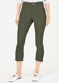 INC International Concepts I.n.c. Curvy Ruched-Hem Cropped Pants, Created for Macy's